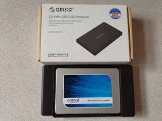 Disco duro externo Crucial SSD de 250GB