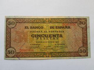 50 pesetas 1938 Burgos MBC+
