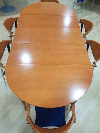 mesa salón y 6 sillas (Paco cabdell)