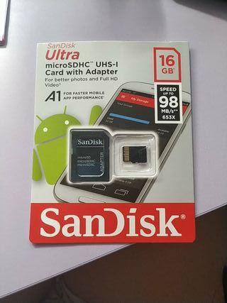 tarjeta microSDHC de 16 GB