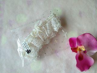 Liga novia encaje flor NUEVA