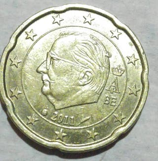 20 euro cent Bélgica 2011 error coin