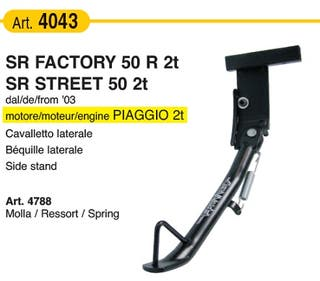Caballete lateral SR Factory 50 R 2t