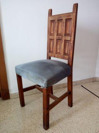 sillas salón estilo rustico