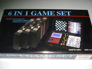 6 juegos en 1 games ajedrez backgammon cartas