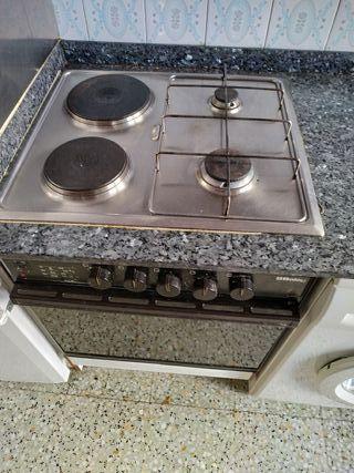 cocina, extractor y horno