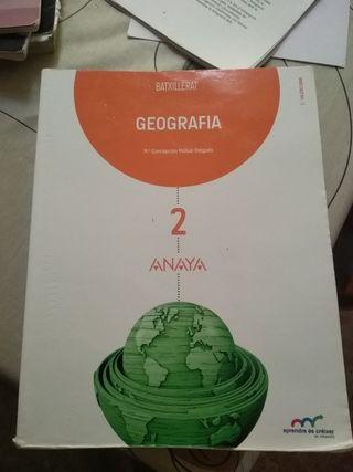 libro geografía 2o Bachiller
