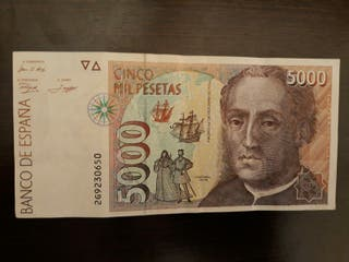 Billete de 5000 ptas