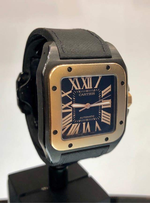 352bd1f8ad8e Reloj Cartier Santos 100 XL. Negro/Oro Rosa 18 kt. de segunda mano ...