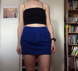 blue mini skirt