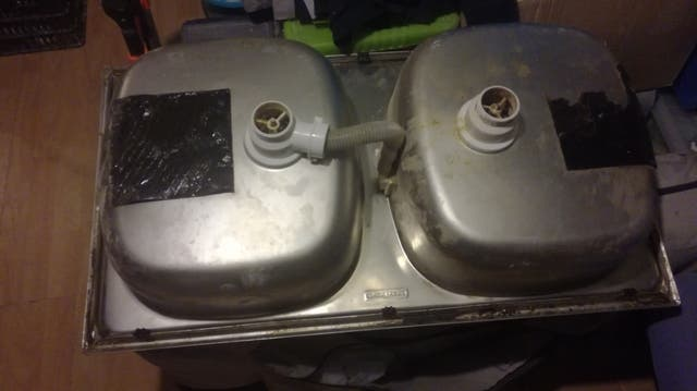 Fregadero doble acero