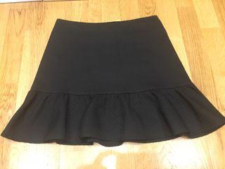 Falda negra talla S