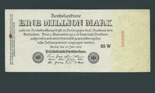 ALEMANIA 1 MILLION MARK 1923 , MBC