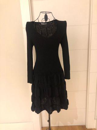 Vestido negro de lana de Bimba y Lola - talla S