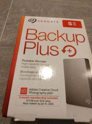 Disco duro externo Seagate 5tb nuevo