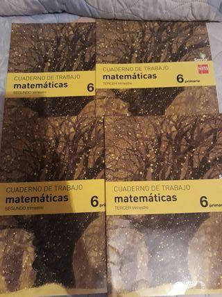 cuaderno de matemáticas 2 y 3 trimestre 6 de prima