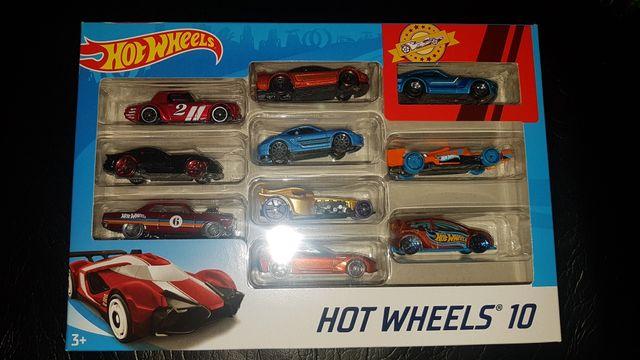 Hot Wheels Multi-Colour 10 Car Set