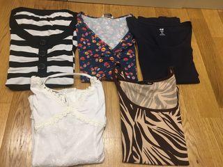 Lote 5 camisetas talla S