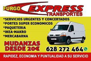 PORTES Y MUDANZAS ECONÓMICOS DESDE 20€