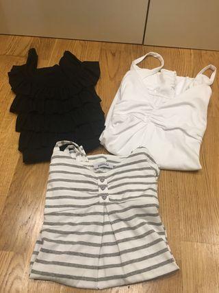 Lote 3 camisetas tirantes talla S