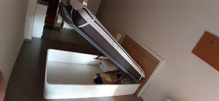 Cama 105x190 con canapé abatible y colchón