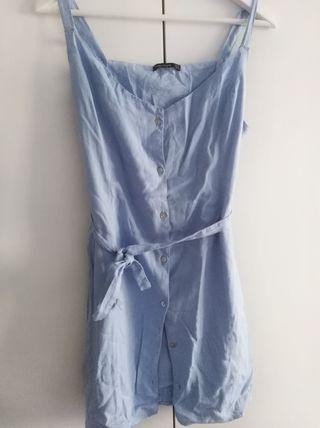 Vestido chica talla M Bershka azul cielo