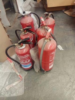 extintores rellenos pero sin inpseccion