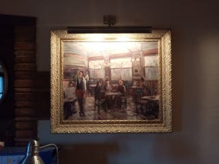 cuadro dublas oleo en lienzo tela