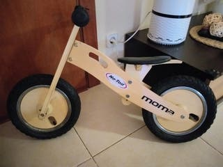 Bicicleta de aprendizaje de madera Moma