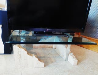 Mesa de marmol travertino
