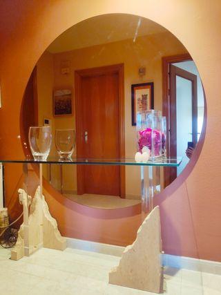 Mesa recibidor de marmol travertino