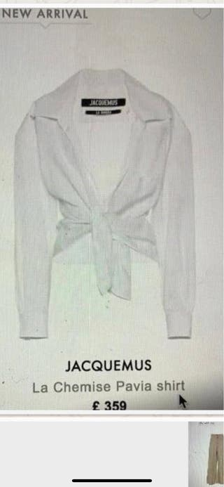 JACQUEMUS SHIRT - NOT USED -NEW