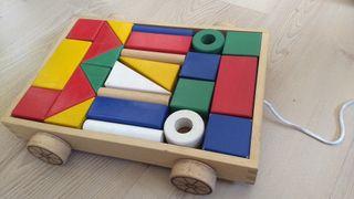 Carrito construcciones de madera Ikea