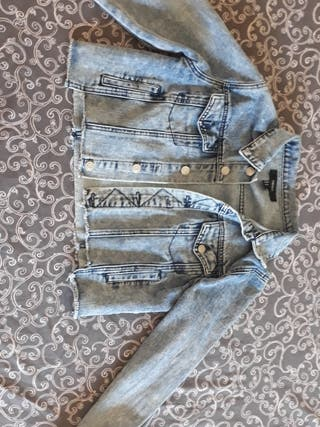 chaqueta tejana corta