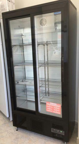 armario expositor nevera fría de 2 puertas