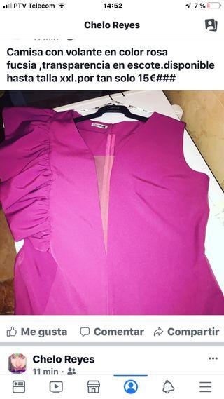Camisa en color rosa