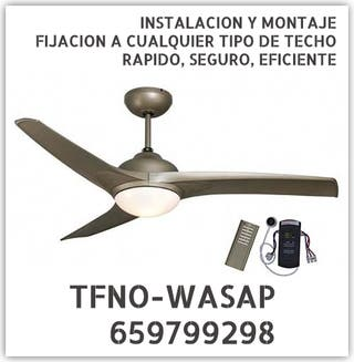 VENTILADOR DE TECHO-montaje instalo