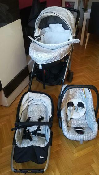 carro bebé, capazo y maxicosi