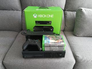 Xbox One con Kinect, mando, juegos y caja