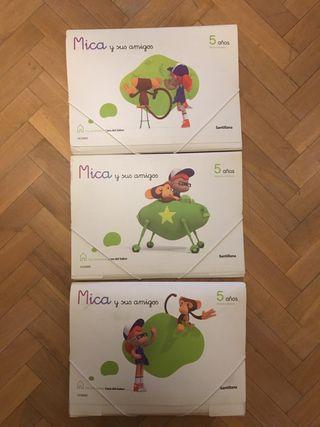 Libros Mica y sus amigo 5 años (mono)