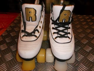 PATINES QUAD ROLLER VARSITY WHITE GOLD S (USED)