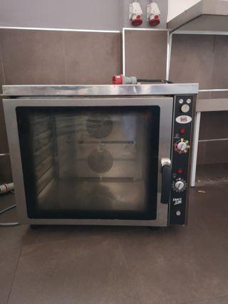 horno pastelero convector con vapor