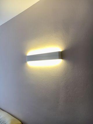 Lámpara diseño led blanca 35€