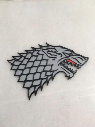 Emblema casa Stark juego de tronos