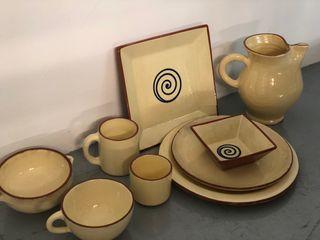 Vajilla de ceramica - pack de varias piezas