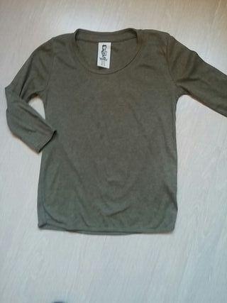 Camiseta Kaki Niña 12 Trafaluc