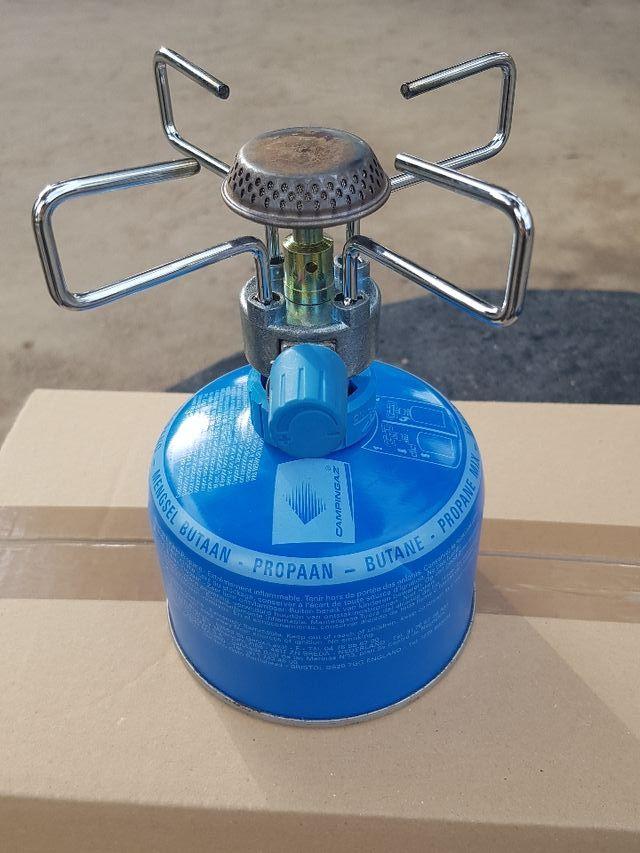 Mini camping gas con bombonas- Como nuevo