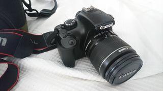Canon EOS 1100D + Objetivo + funda