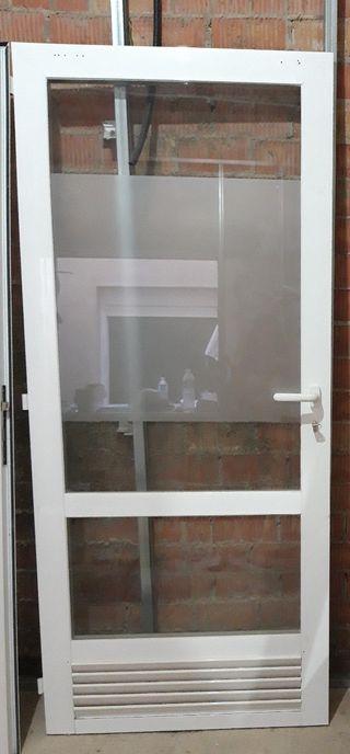 Puerta aluminio cristal 82x206