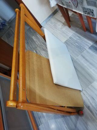 Armazón de Madera , tabla y colchón Minicuna